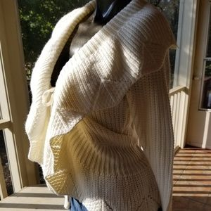 BCBG Max Azaria Knit Sweater in Ivory